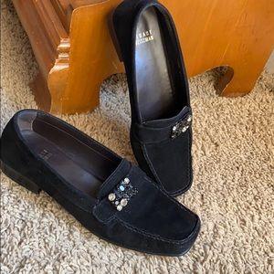 Stuart Weitzman black shade loafers 7.5